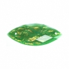 Resin Sew-on Dichroic Style 10pcs 12x30mm Navette Emerald
